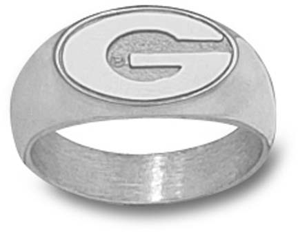 "Georgia Bulldogs ""G"" 3/8"" Men's Ring Size 10 1/2 - Sterling Silver Jewelry"