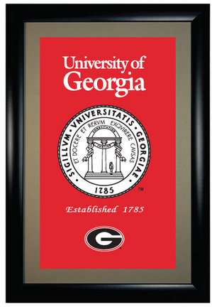 "Georgia Bulldogs NCAA Gallery Collection 25"" x 17"" Framed Collectible Photograph from Winning Streak Sports"