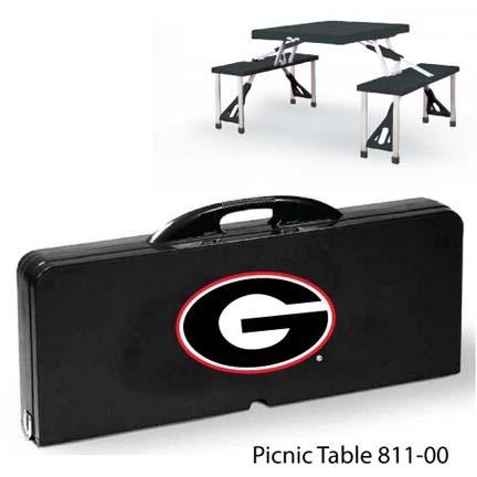 Georgia Bulldogs Portable Folding Table and Seats