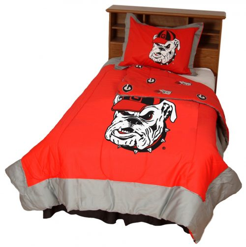 Georgia Bulldogs Reversible Comforter Set (Queen)