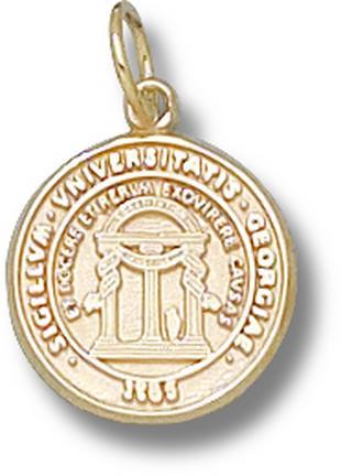 "Georgia Bulldogs ""Seal"" 1/2"" Charm - 10KT Gold Jewelry"