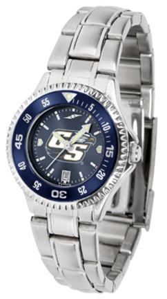 Georgia Southern Eagles Competitor AnoChrome Ladies Watch with Steel Band and Colored Bezel