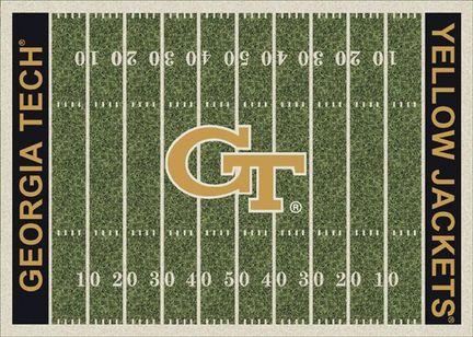 "Georgia Tech Yellow Jackets 3' 10"" x 5' 4"" Home Field Area Rug"