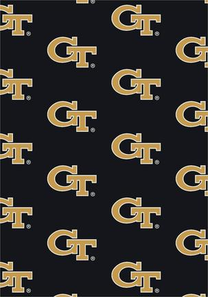 "Georgia Tech Yellow Jackets 3' 10"" x 5' 4"" Team Repeat Area Rug"