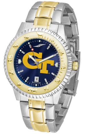 Georgia Tech Yellow Jackets Competitor AnoChrome Two Tone Watch