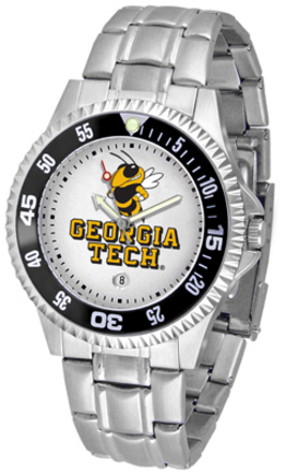 Georgia Tech Yellow Jackets Competitor Watch with a Metal Band