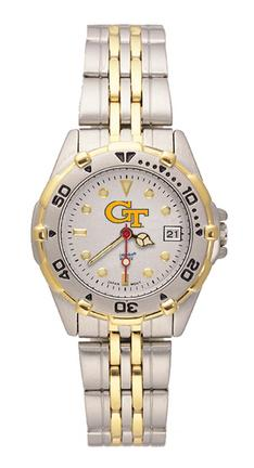 "Georgia Tech Yellow Jackets ""GT"" All Star Watch with Stainless Steel Band - Women's"