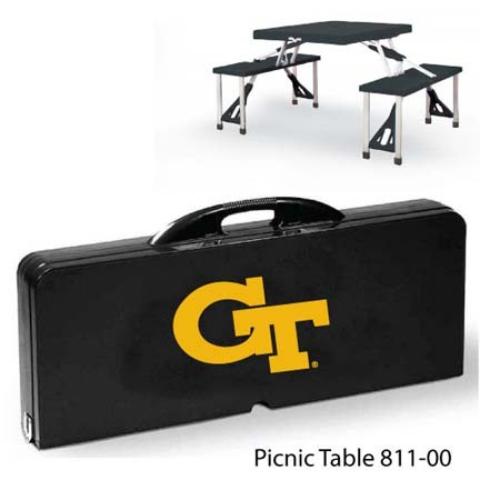Georgia Tech Yellow Jackets Portable Folding Table and Seats