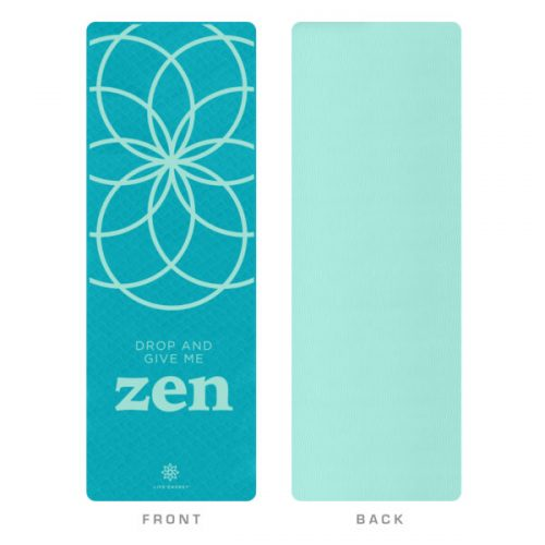 Global Quality Brands 3202YM Life Energy EkoSmart Yoga Mat-Zen Drop Teal & White