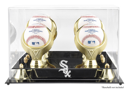 Golden Classic 4-Baseball Display Case with Chicago White Sox Logo