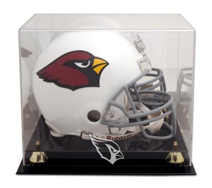 Golden Classic Football Helmet Display Case with Arizona Cardinals Logo