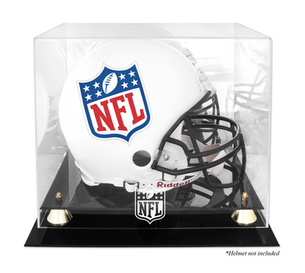 Golden Classic Football Helmet Display Case with NFL Logo