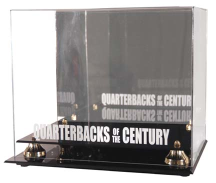 "Golden Classic ""Quarterback of the Century"" Helmet Display Case"