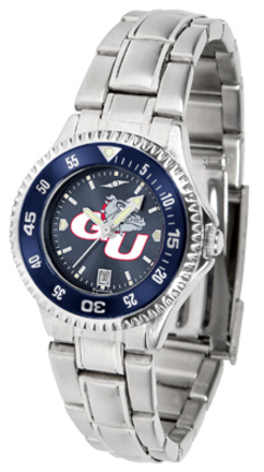 Gonzaga Bulldogs Competitor AnoChrome Ladies Watch with Steel Band and Colored Bezel