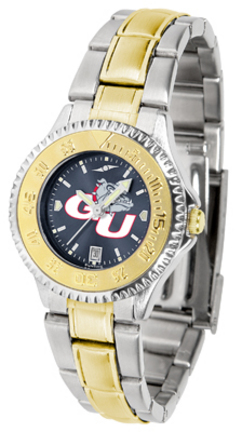Gonzaga Bulldogs Competitor AnoChrome Ladies Watch with Two-Tone Band