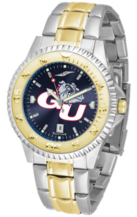Gonzaga Bulldogs Competitor AnoChrome Two Tone Watch