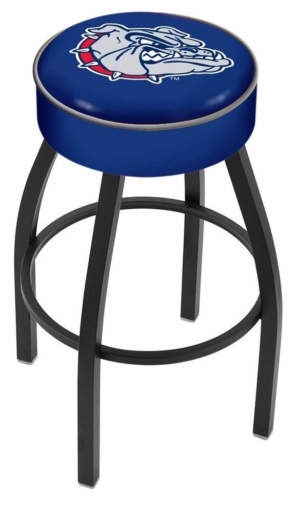 "Gonzaga Bulldogs (L8B1) 30"" Tall Logo Bar Stool by Holland Bar Stool Company (with Single Ring Swivel Black Solid Welded Base)"