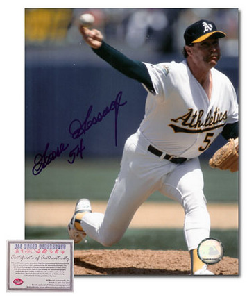 "Goose Gossage Autographed ""Oakland Athletics Pitching"" 8"" x 10"" Photograph (Unframed)"