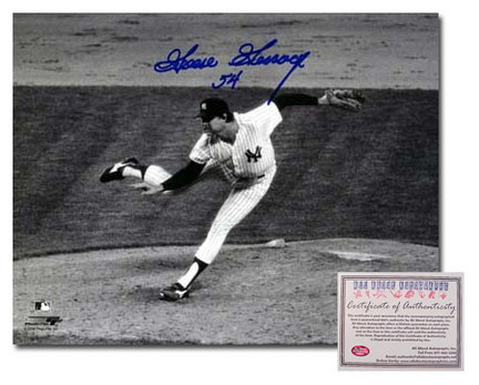 """Goose Gossage Autographed """"Pitching"""" Black and White 8"""" x 10"""" Photograph (Unframed)"""