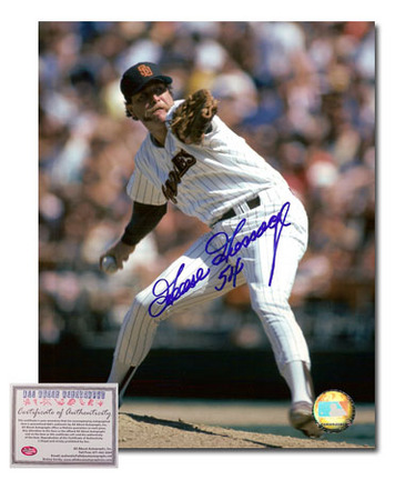 "Goose Gossage Autographed ""San Diego Padres Pitching"" 8"" x 10"" Photograph (Unframed)"