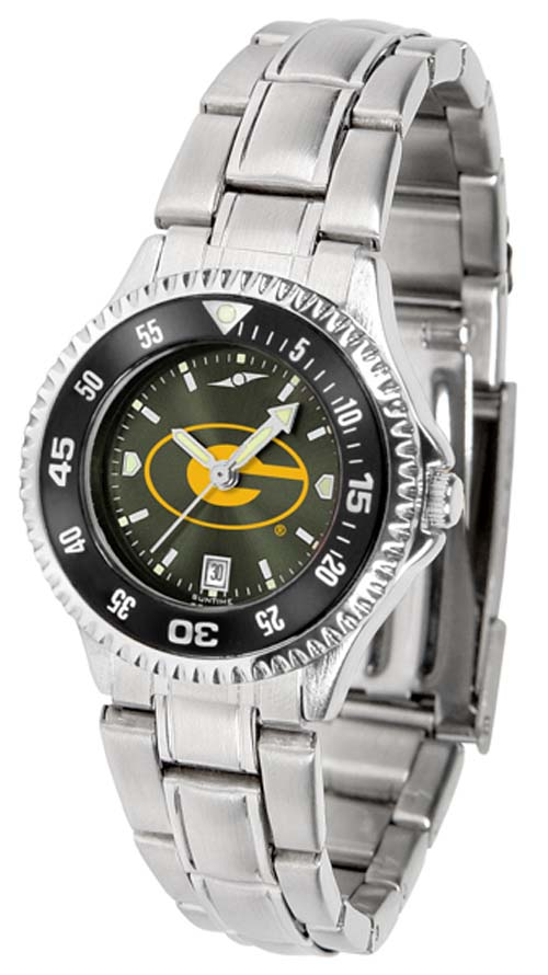 Grambling State Tigers Competitor AnoChrome Ladies Watch with Steel Band and Colored Bezel