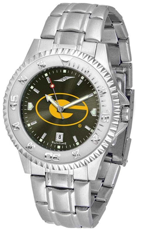 Grambling State Tigers Competitor AnoChrome Men's Watch with Steel Band