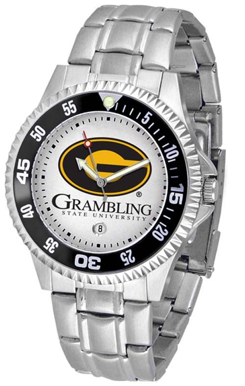 Grambling State Tigers Competitor Men's Watch with Steel Band