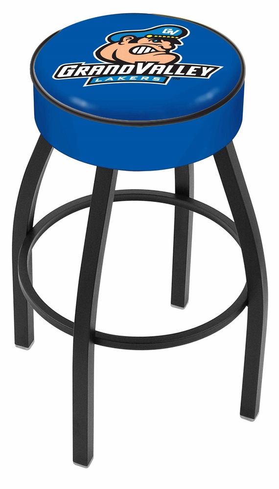 "Grand Valley State Lakers (L8B1) 25"" Tall Logo Bar Stool by Holland Bar Stool Company (with Single Ring Swivel Black Solid Welded Base)"