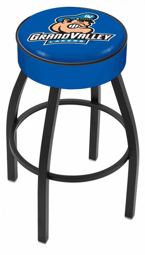 "Grand Valley State Lakers (L8B1) 30"" Tall Logo Bar Stool by Holland Bar Stool Company (with Single Ring Swivel Black Solid Welded Base)"