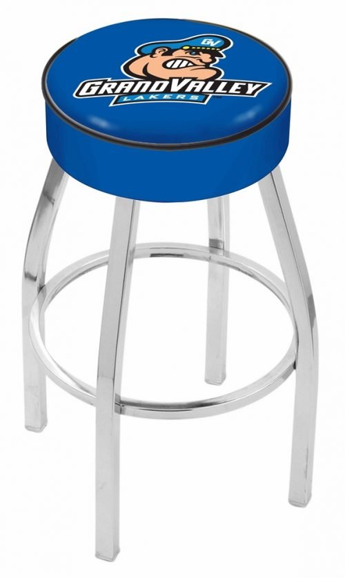 "Grand Valley State Lakers (L8C1) 25"" Tall Logo Bar Stool by Holland Bar Stool Company (with Single Ring Swivel Chrome Solid Welded Base)"