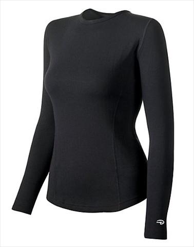 Hanes KEW3 Duofold Varitherm Performance Womens Thermal Long-Sleeve Shirt Size Large Black