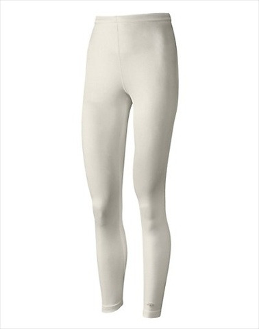 Hanes KMC4 Duofold Varitherm Mid-Weight Womens Base-Layer Thermal Bottoms Size Large Pearl
