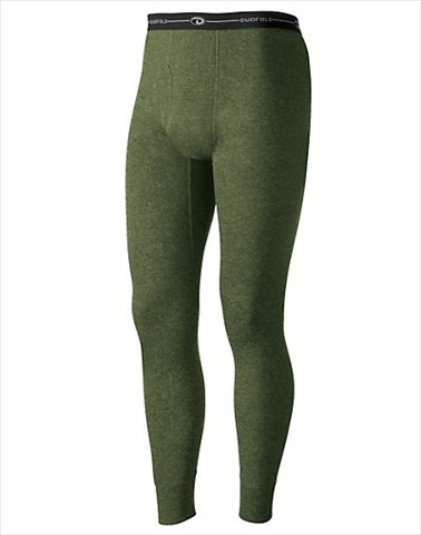 Hanes KMO3 Duofold Originals Mid-Weight Wool-Blend Mens Thermal Underwear Size Large Olive Heather Green