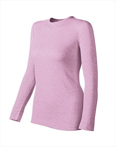 Hanes KWM1 Duofold Originals Mid-Weight Womens Thermal Shirt Size Small Berry Pink Heather