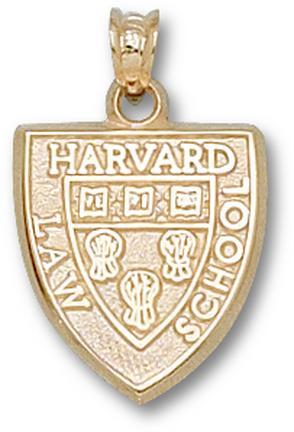 "Harvard Crimson Law School ""Shield"" Pendant - 10KT Gold Jewelry"