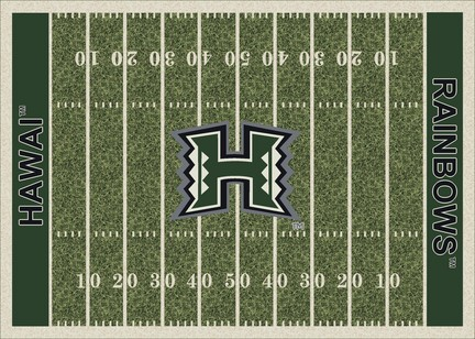 "Hawaii Rainbow Warriors 3' 10"" x 5' 4"" Home Field Area Rug"