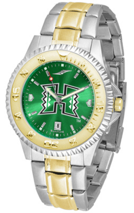 Hawaii Rainbow Warriors Competitor AnoChrome Two Tone Watch