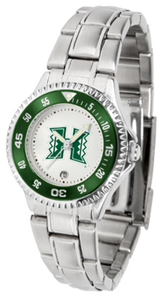 Hawaii Rainbow Warriors Competitor Ladies Watch with Steel Band