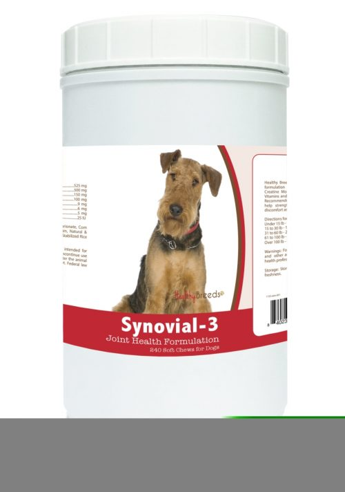 Healthy Breeds 840235100478 Airedale Terrier Synovial-3 Joint Health Formulation - 240 Count