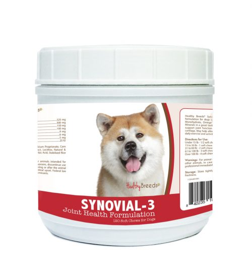 Healthy Breeds 840235100621 Akita Synovial-3 Joint Health Formulation - 120 Count