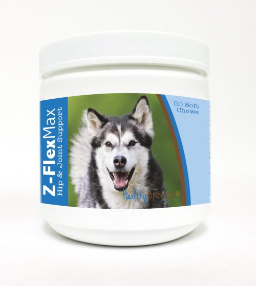 Healthy Breeds 840235100744 Alaskan Malamute Z-Flex Max Hip & Joint Soft Chews - 50 Count