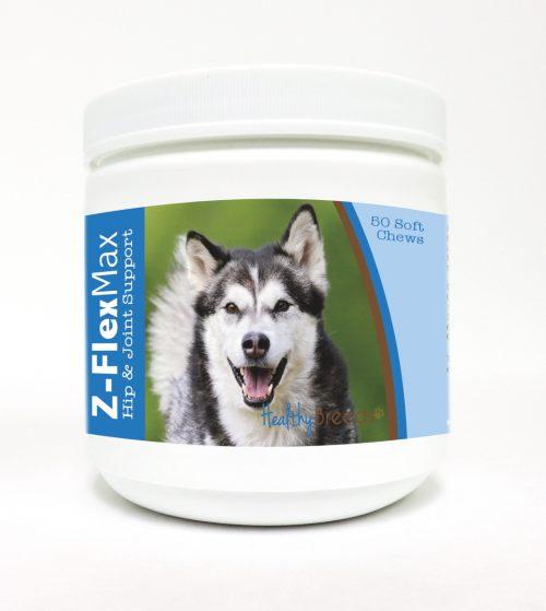 Healthy Breeds 840235100744 Alaskan Malamute Z-Flex Max Hip & Joint Soft Chews - 50 Count