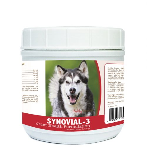 Healthy Breeds 840235100775 Alaskan Malamute Synovial-3 Joint Health Formulation - 120 Count