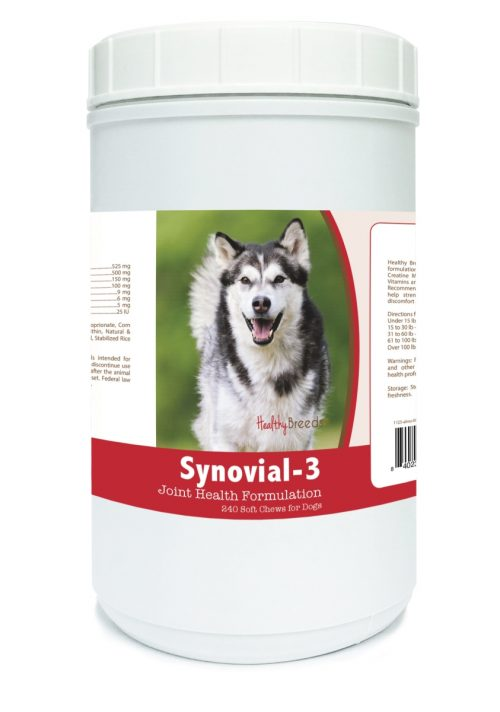 Healthy Breeds 840235100782 Alaskan Malamute Synovial-3 Joint Health Formulation - 240 Count