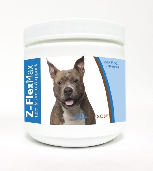 Healthy Breeds 840235100911 American Staffordshire Terrier Z-Flex Max Hip & Joint Soft Chews - 50 Count