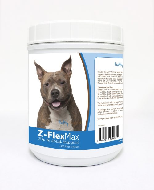 Healthy Breeds 840235100935 American Staffordshire Terrier Z-Flex Max Hip & Joint Soft Chews - 170 Count