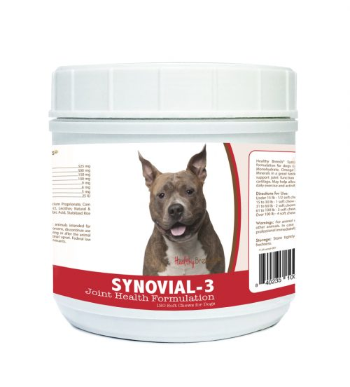 Healthy Breeds 840235100942 American Staffordshire Terrier Synovial-3 Joint Health Formulation - 120 Count
