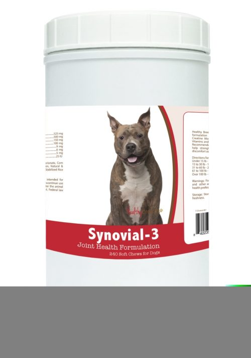 Healthy Breeds 840235100959 American Staffordshire Terrier Synovial-3 Joint Health Formulation - 240 Count