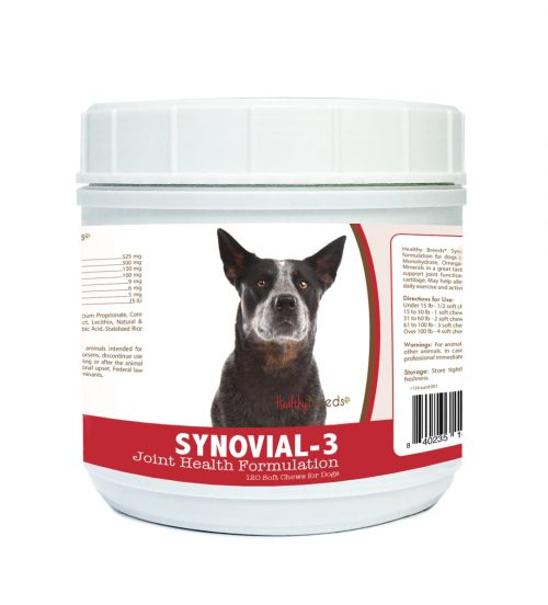 Healthy Breeds 840235101093 Australian Cattle Dog Synovial-3 Joint Health Formulation - 120 Count