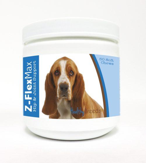 Healthy Breeds 840235101369 Basset Hound Z-Flex Max Hip & Joint Soft Chews - 50 Count